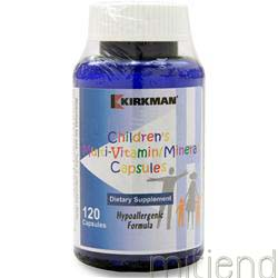 Children's Multi Vitamin and Mineral Hypoallergenic Capsules 120 caps KIRKMAN
