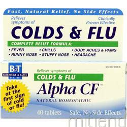 Alpha CF Colds & Flu 40 tabs BOERICKE AND TAFEL