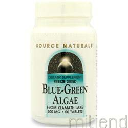 Blue-Green Algae Freeze Dried 50 tabs SOURCE NATURALS