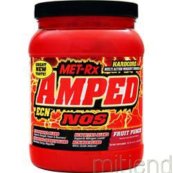 Amped ECN Drink Mix Fruit Punch 2 lbs MET-RX