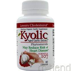 Aged Garlic Extract Phytosterols - Formula #107 80 caps KYOLIC