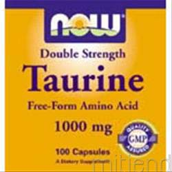 Double Strength Taurine 1000mg 100 caps NOW