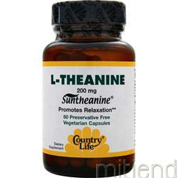 L-Theanine 200mg 60 caps COUNTRY LIFE
