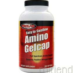 Amino Gelcap Easy to Swallow 200 sgels PROLAB NUTRITION