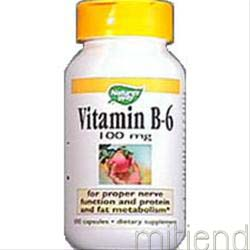 Vitamin B-6 100mg 100 caps NATURE'S WAY