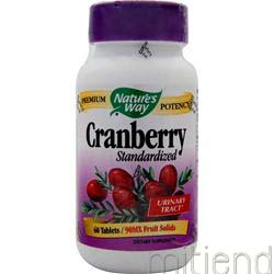 Cranberry Extract - Standardized 60 tabs NATURE'S WAY