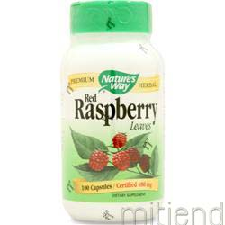 Red Raspberry Leaves 480mg 100 caps NATURE'S WAY