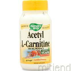 Acetyl L-Carnitine 60 caps NATURE'S WAY