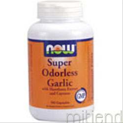 Super Odorless Garlic 180 caps NOW
