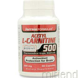 Acetyl L-Carnitine 500mg 60 caps JARROW