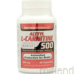 Acetyl L-Carnitine 500mg 60 caps JARROW
