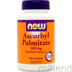 Ascorbyl Palmitate 500mg 100 caps NOW