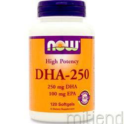 DHA-250 120 sgels NOW