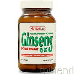 Ginseng Powermax 6X 50 caps ACTION LABS