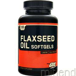 Flaxseed Oil - Cold Pressed 1000mg 100 sgels OPTIMUM NUTRITION