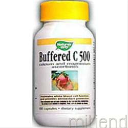 Buffered C-500 Mineral Ascorbates 100 caps NATURE'S WAY