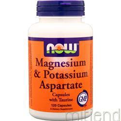 Magnesium & Potassium Aspartate 120 caps NOW