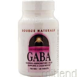 GABA 750mg 45 tabs SOURCE NATURALS