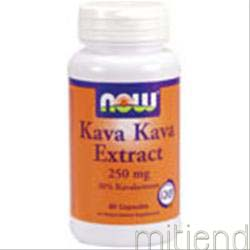 Kava Kava Extract 250mg 60 caps NOW