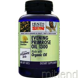 Organic Evening Primrose Oil 1300 60 sgels HEALTH FROM THE SUN