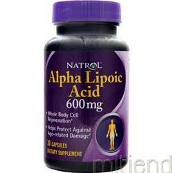 Alpha Lipoic Acid 600mg 30 caps NATROL