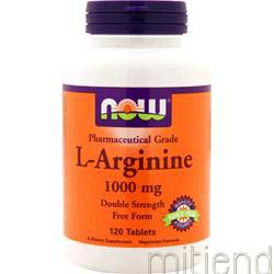 L-Arginine 1000mg 120 tabs NOW