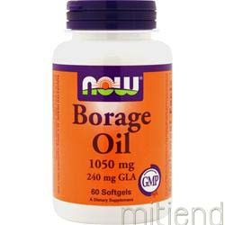 Borage Oil 240mg GLA 60 sgels NOW