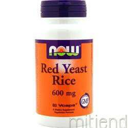 Red Yeast Rice 600mg 60 caps NOW