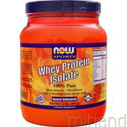 100% Pure Whey Protein Isolate - Natural Unflavored 1 lbs NOW