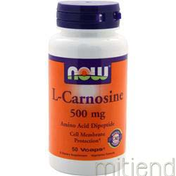 L-Carnosine 500mg 50 caps NOW