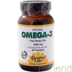 Omega-3 Fish Oil 1000mg 50 sgels COUNTRY LIFE
