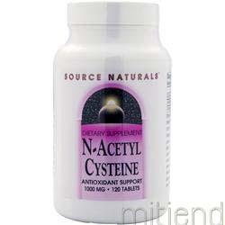 N-Acetyl Cysteine 120 tabs SOURCE NATURALS