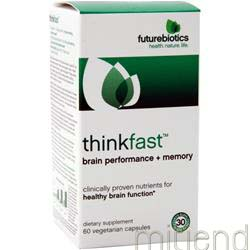 ThinkFast - Brain Performance plus Memory 60 caps FUTUREBIOTICS