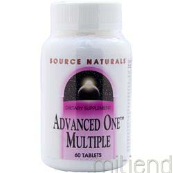 Advanced One Multiple 60 tabs SOURCE NATURALS