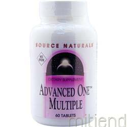 Advanced One Multiple - No Iron 60 tabs SOURCE NATURALS