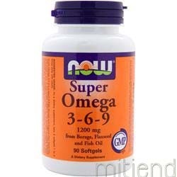 Super Omega 3-6-9 1200mg 90 sgels NOW