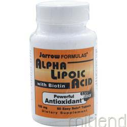 Alpha Lipoic Acid with Biotin 60 tabs JARROW