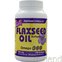 Organic Flaxseed Oil 1000mg 100 sgels JARROW