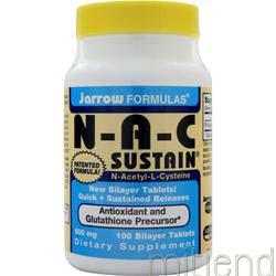 NAC Sustain 100 tabs JARROW