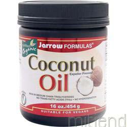 Coconut Oil 16 oz JARROW