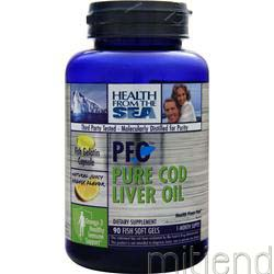 PFO - Pure Cod Liver Oil Orange Flavor 90 sgels HEALTH FROM THE SEA