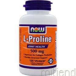 L-Proline 120 caps NOW