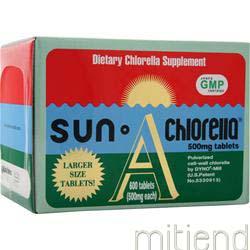 Sun Chlorella 500mg J-5 600 tabs SUN CHLORELLA