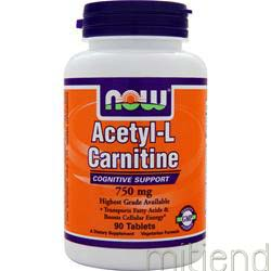 Acetyl-L Carnitine 750mg 90 tabs NOW