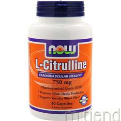 L-Citrulline 750mg 90 caps NOW