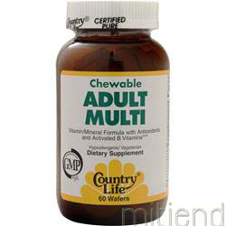 Chewable Adult Multi 60 wafrs COUNTRY LIFE