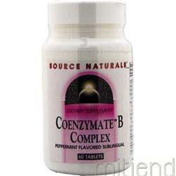 Coenzymate B Complex Peppermint 60 tabs SOURCE NATURALS