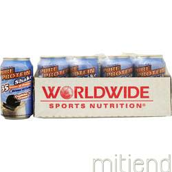 Ultra Pure Protein Shake 11 fl oz  Cookies 'n Creme 12 cans WORLDWIDE SPORTS