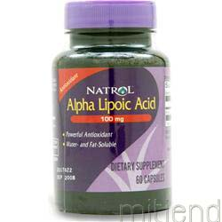 Alpha Lipoic Acid 100mg 60 caps NATROL