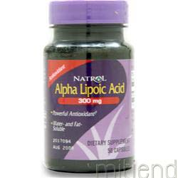 Alpha Lipoic Acid 300mg 50 caps NATROL